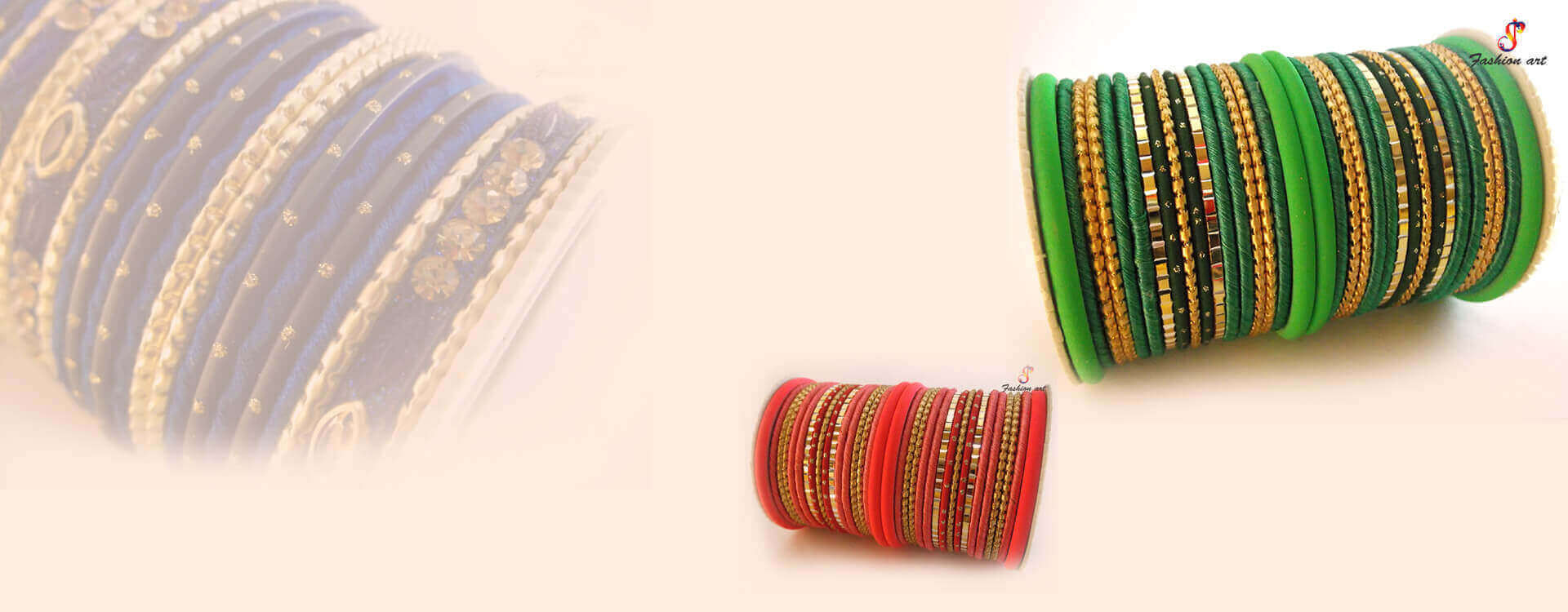 An exquisite collection of designer bangles