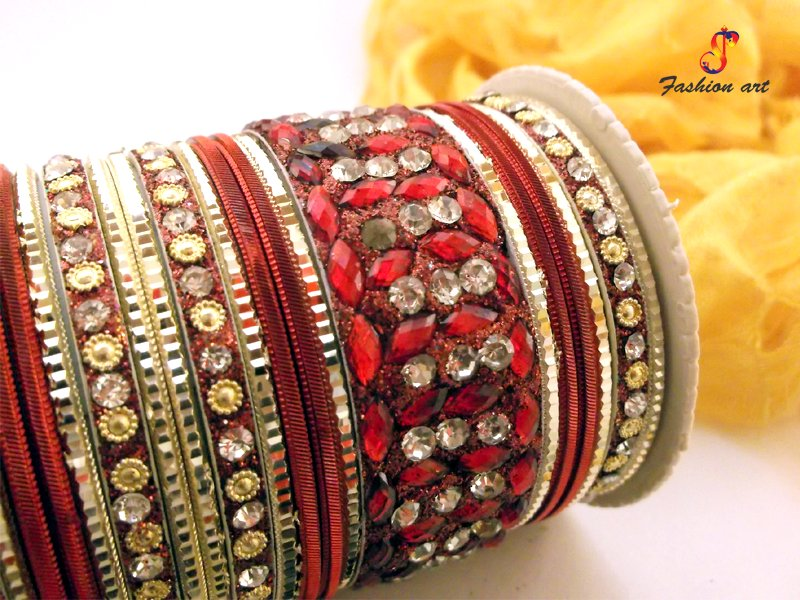 Coloured Stones Bangles