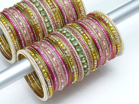 Glass Bangles in Mexico